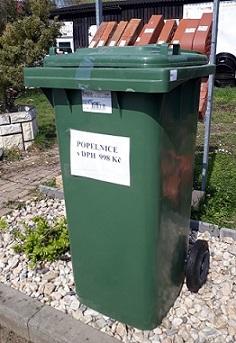 Plastová popelnice – zelená